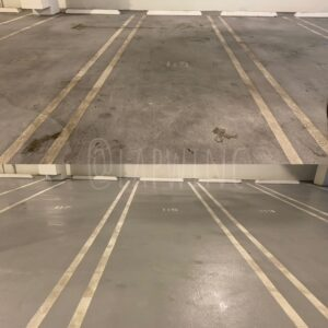 Before and After photos of Pressure Washing Parking Lot