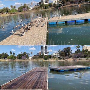 Cleaned LA boat dock